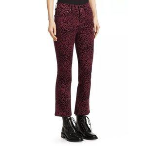 Rag & Bone hana cheetah cropped bootcut jeans